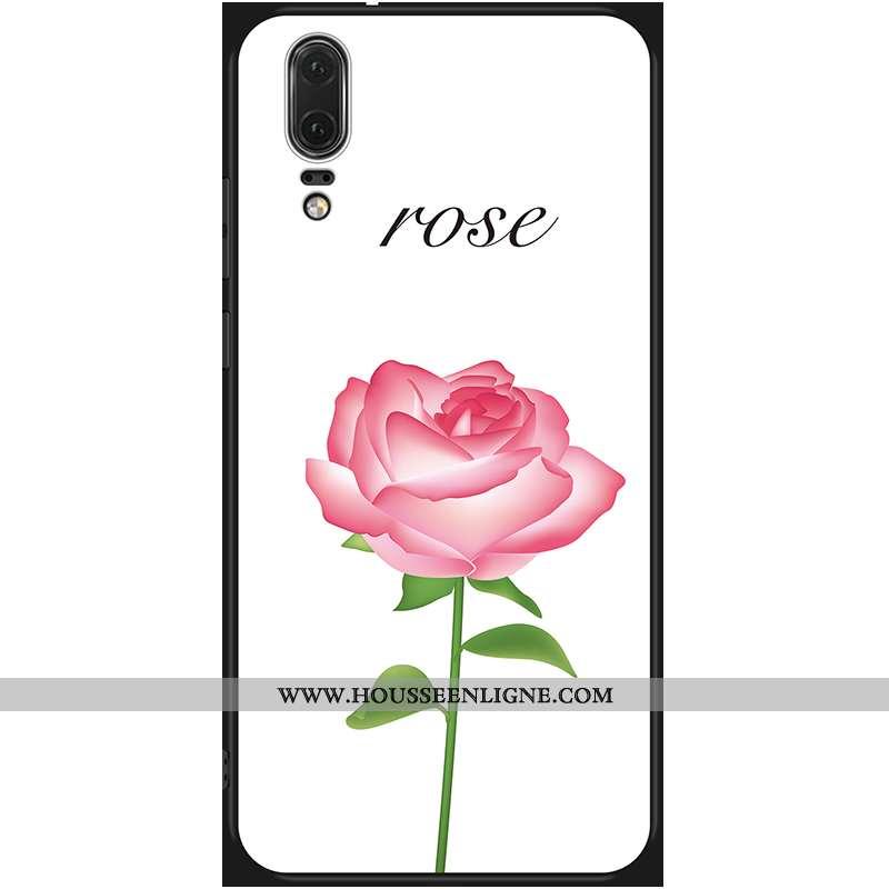 Housse Huawei P20 Fluide Doux Protection Tout Compris Rouge Incassable Coque Téléphone Portable