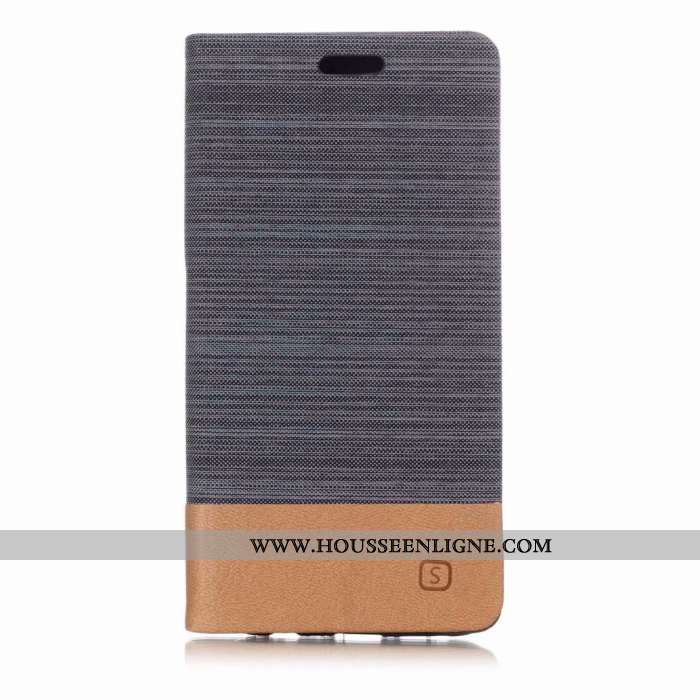 Housse Huawei P20 Lite Cuir Protection Étui Téléphone Portable Coque Clamshell Gris