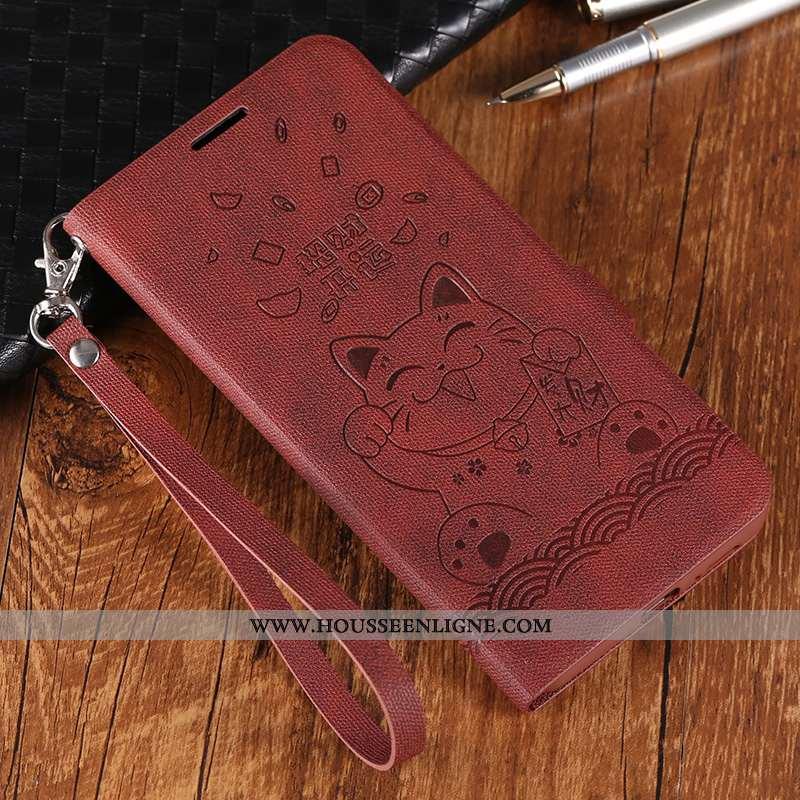 Housse Huawei P20 Lite Cuir Protection Luxe Incassable Téléphone Portable Coque Marron