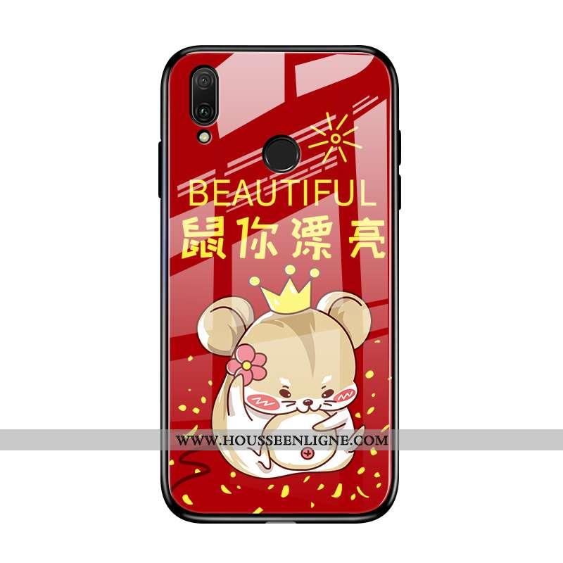 Housse Huawei P20 Lite Protection Verre Étui Rouge Personnalité Membrane Dessin Animé