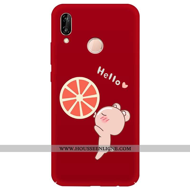 Housse Huawei P20 Lite Tendance Protection Coque Jeunesse Difficile Simple Téléphone Portable Rouge