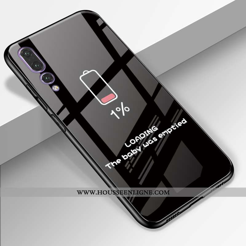Housse Huawei P20 Pro Cuir Véritable Silicone Amoureux Téléphone Portable Personnalité Incassable Ét