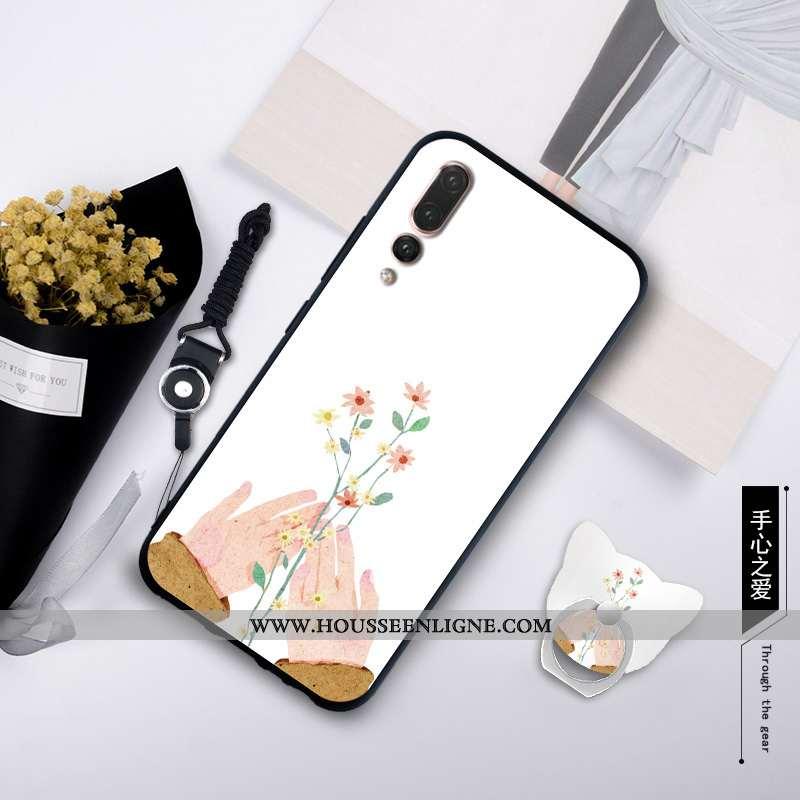 Housse Huawei P20 Pro Personnalité Créatif Ornements Suspendus Simple Incassable Étui Silicone Blanc