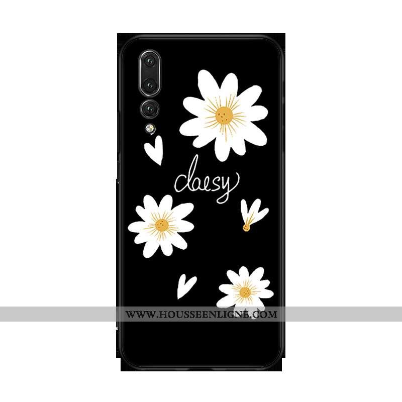 Housse Huawei P20 Pro Personnalité Fluide Doux Silicone Noir Tout Compris Téléphone Portable Petite