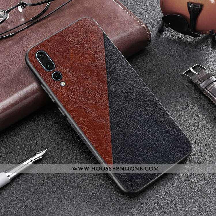 Housse Huawei P20 Pro Personnalité Tendance Tout Compris Cuir Coque Téléphone Portable Marron