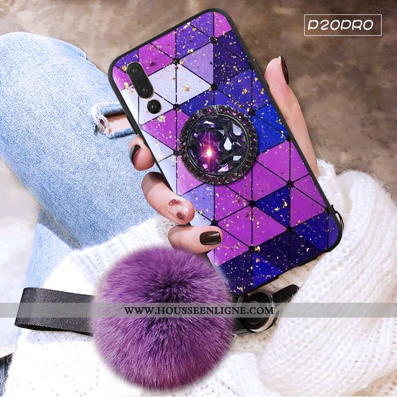 Housse Huawei P20 Pro Protection Personnalité Tendance Mode Incassable Étui Fluide Doux Violet