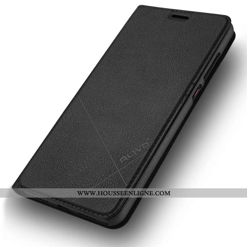 Housse Huawei P20 Protection Cuir Noir Difficile Coque Business Tout Compris
