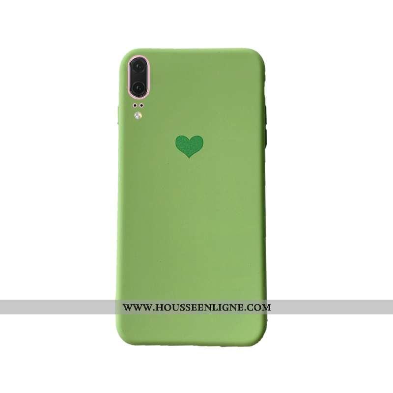 Housse Huawei P20 Tendance Légère Nouveau Vert Téléphone Portable Coque Net Rouge Verte