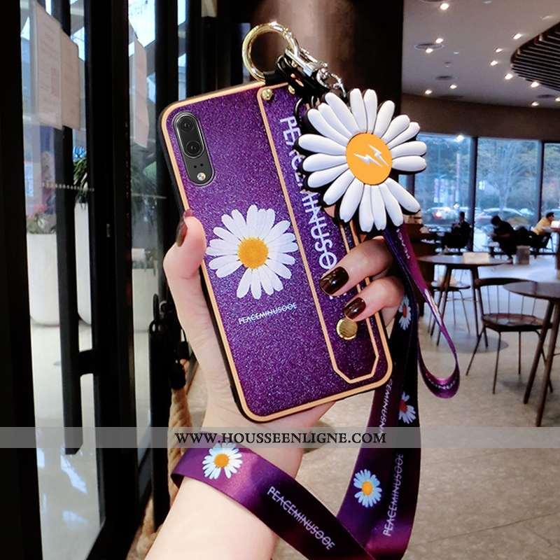 Housse Huawei P20 Tendance Légère Téléphone Portable Dragon Incassable Violet Personnalité