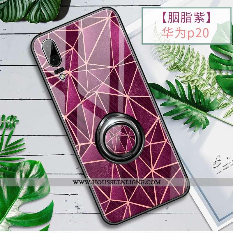 Housse Huawei P20 Ultra Tendance Fluide Doux Violet Légère Silicone Téléphone Portable