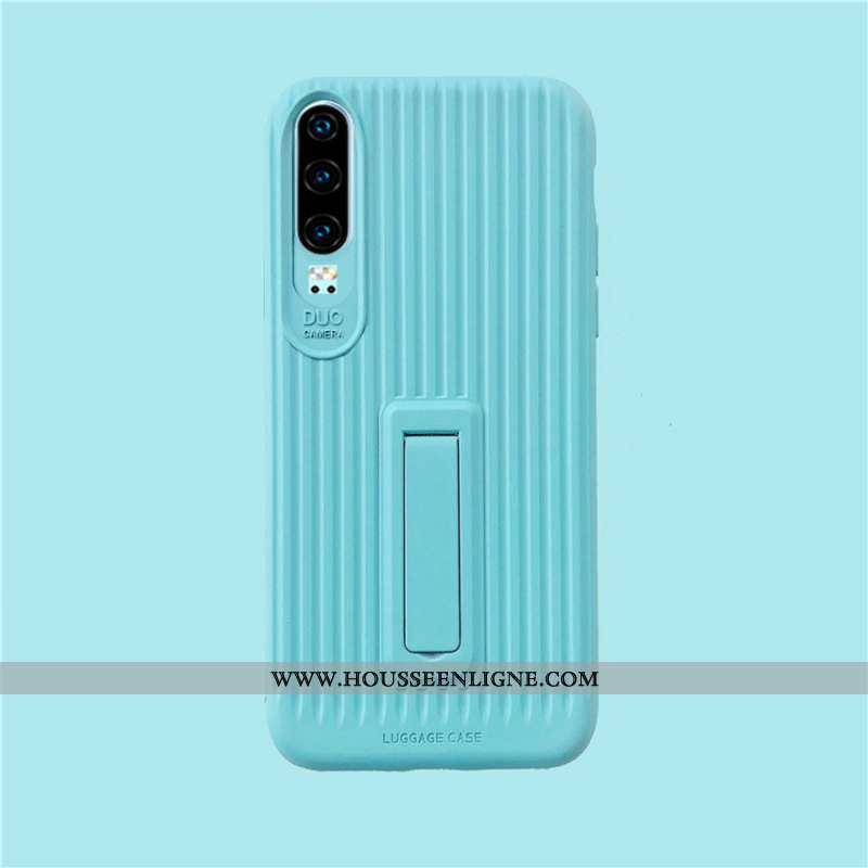 Housse Huawei P30 Fluide Doux Silicone Amoureux Protection Net Rouge Étui Tout Compris Verte