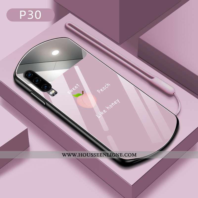 Housse Huawei P30 Fluide Doux Silicone Tendance Tout Compris Coque Téléphone Portable Incassable Vio