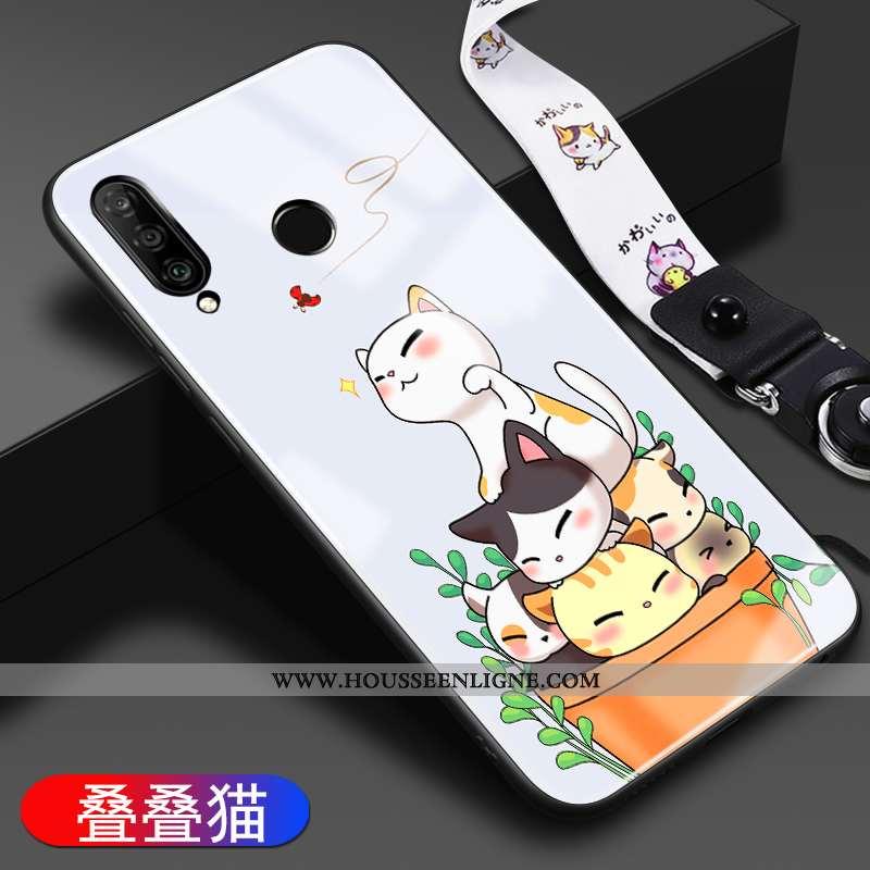 Housse Huawei P30 Lite Silicone Mode Coque Dessin Animé Tendance Téléphone Portable Personnalité Bla