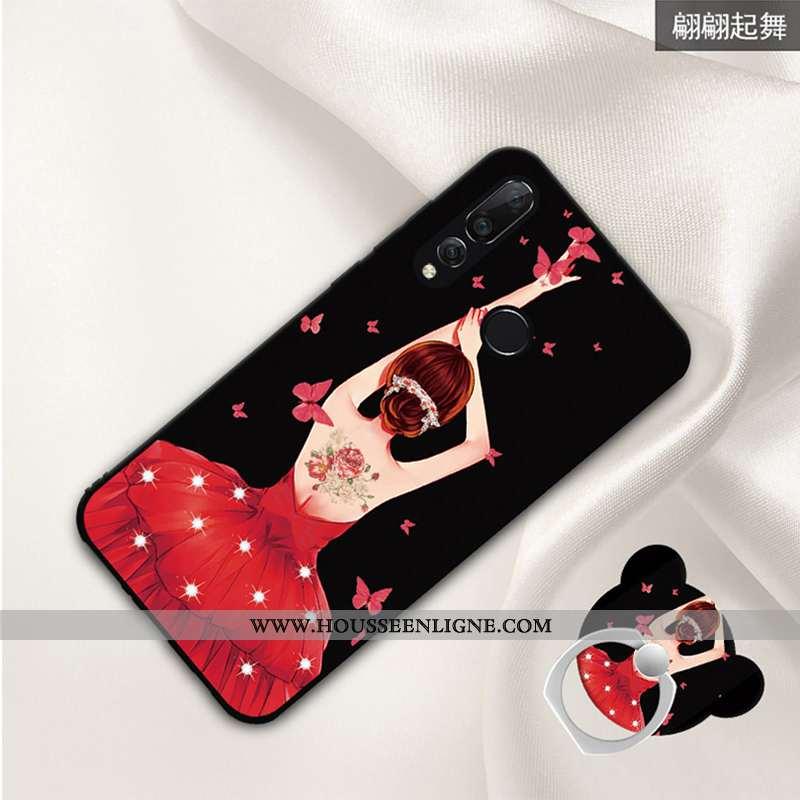 Housse Huawei P30 Lite Xl Dessin Animé Tendance Protection Créatif Téléphone Portable Coque Noir
