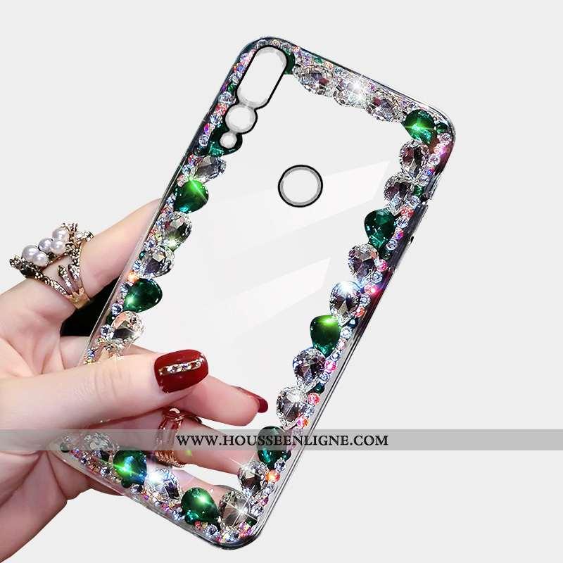 Housse Huawei P30 Lite Xl Luxe Incruster Strass Coque Téléphone Portable Étui Nouveau Personnalité V
