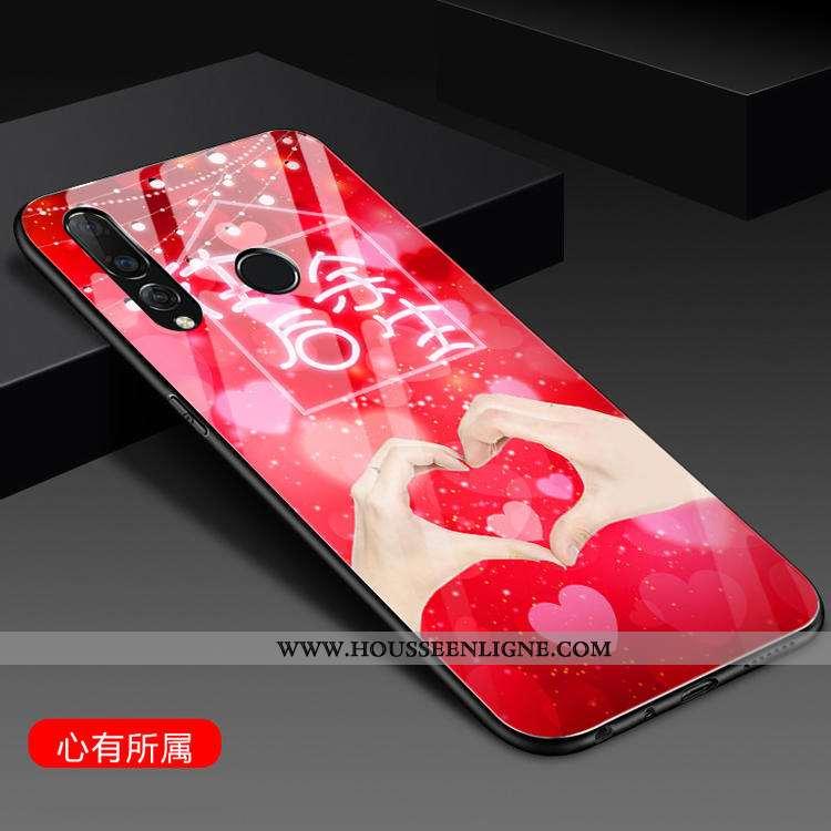 Housse Huawei P30 Lite Xl Silicone Mode Tendance Incassable Net Rouge Rouge Personnalité Rose