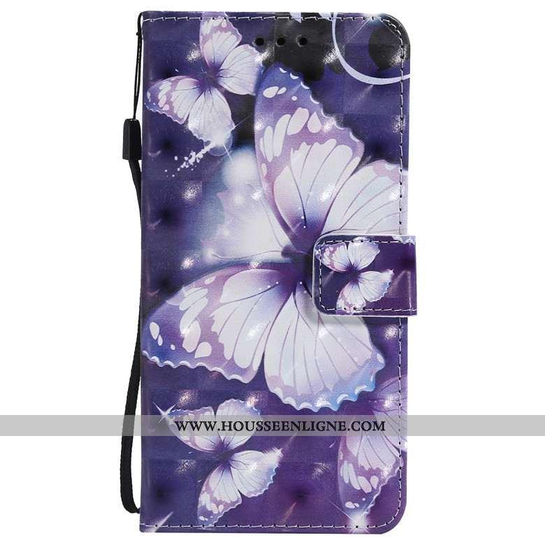Housse Huawei P30 Pro Cuir Protection Téléphone Portable Incassable Dessin Animé Coque Bleu Foncé