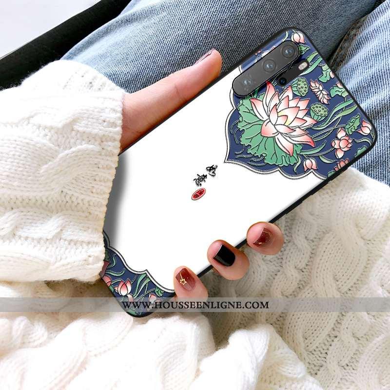 Housse Huawei P30 Pro Personnalité Créatif Téléphone Portable Dimensionnel Gaufrage Coque Vintage Bl