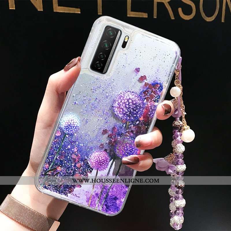 Housse Huawei P40 Lite 5g Créatif Incassable Coque Quicksand Violet Tout Compris Liquide
