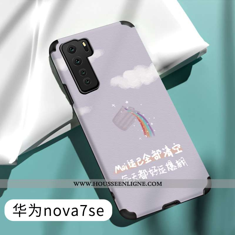 Housse Huawei P40 Lite 5g Fluide Doux Silicone Créatif Gris Téléphone Portable Étui Incassable