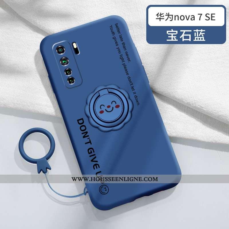 Housse Huawei P40 Lite 5g Légère Fluide Doux Anneau Support Tout Compris Incassable Protection Bleu