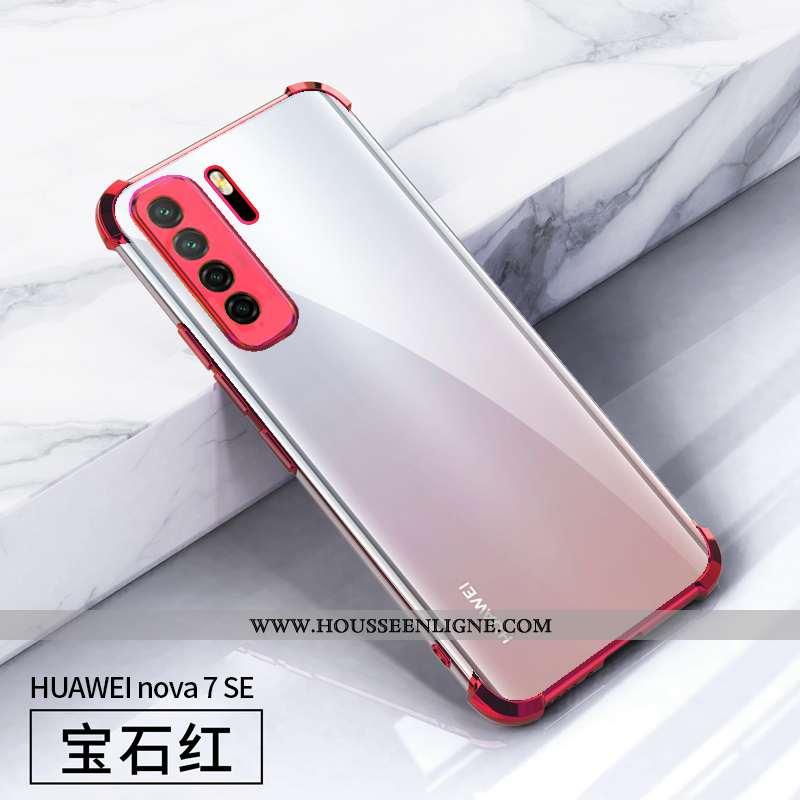 Housse Huawei P40 Lite 5g Légère Fluide Doux Coque Placage Incassable Rouge Étui