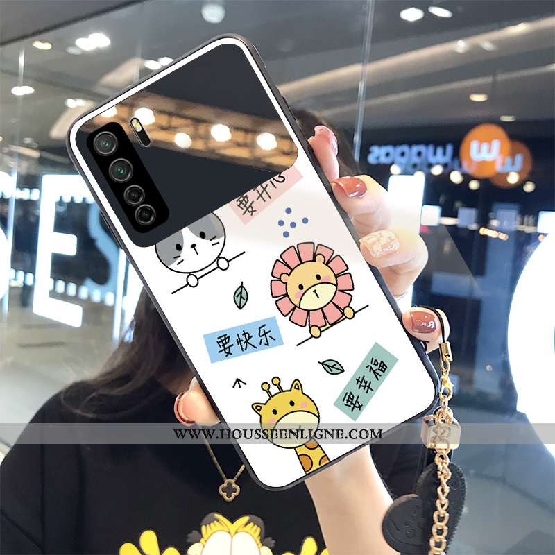 Housse Huawei P40 Lite 5g Personnalité Créatif Miroir Animal Incassable Blanc Téléphone Portable Bla