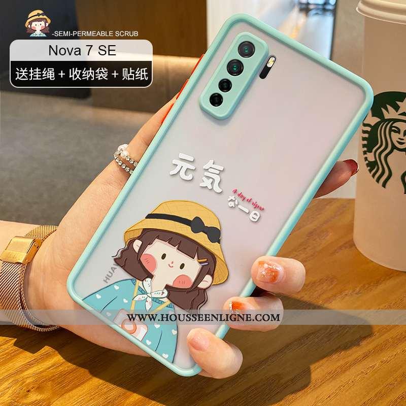 Housse Huawei P40 Lite 5g Personnalité Créatif Transparent Charmant Vert Incassable Coque Verte