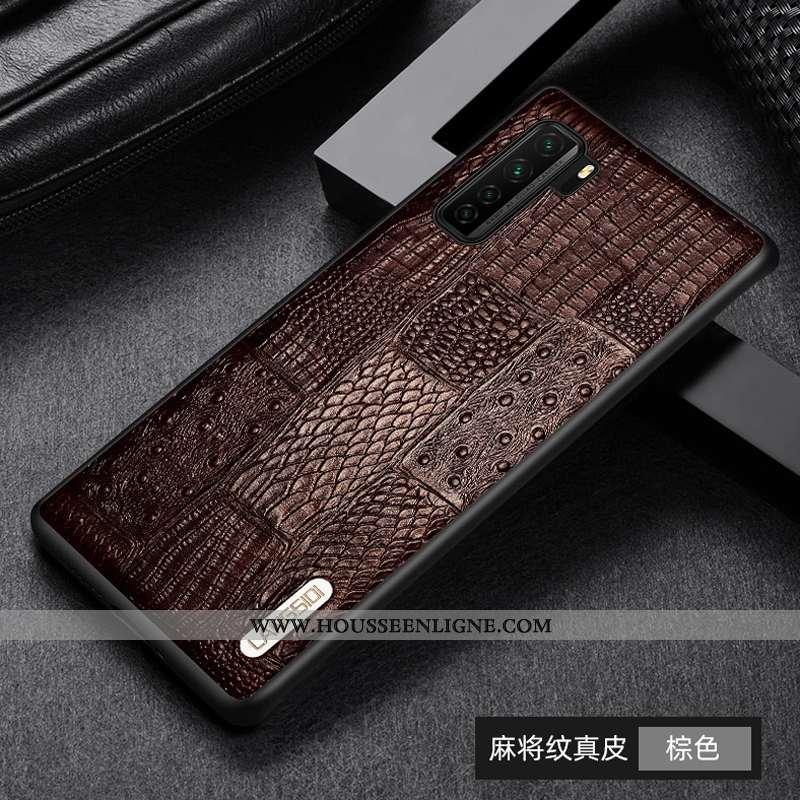 Housse Huawei P40 Lite 5g Protection Cuir Véritable Business Téléphone Portable Tout Compris Incassa