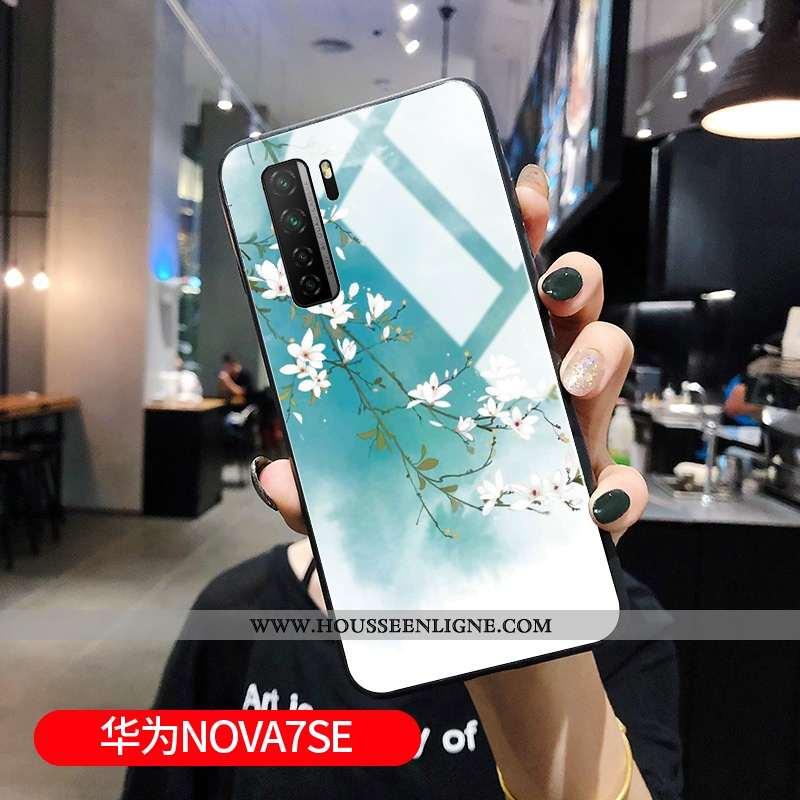 Housse Huawei P40 Lite 5g Protection Verre Bleu Tout Compris Incassable Miroir Style Chinois