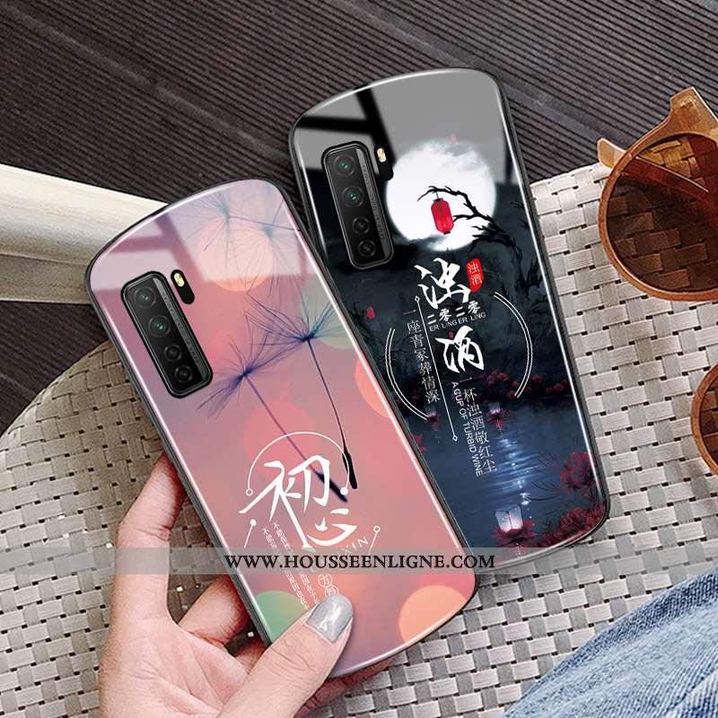 Housse Huawei P40 Lite 5g Protection Verre Mois Coque Rond Cœur Incassable Rose