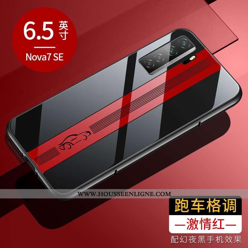 Housse Huawei P40 Lite 5g Protection Verre Tout Compris Incassable Téléphone Portable Étui Rouge