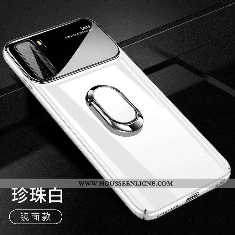 Housse Huawei P40 Lite 5g Tendance Légère Blanc Anneau Support À Bord Étui Blanche