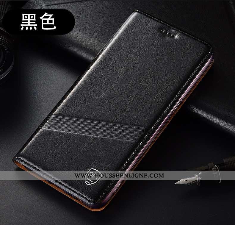 Housse Huawei P40 Lite E Protection Cuir Véritable Incassable Tout Compris Coque Noir Modèle Fleurie