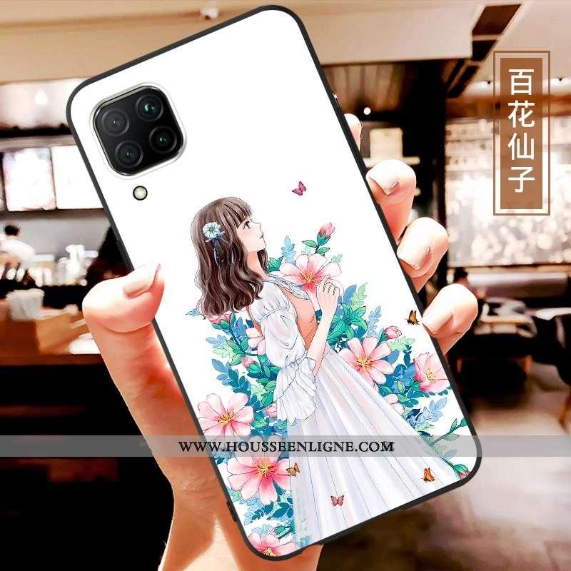 Housse Huawei P40 Lite Personnalité Dessin Animé Ultra Légère Coque Tendance Blanc Blanche