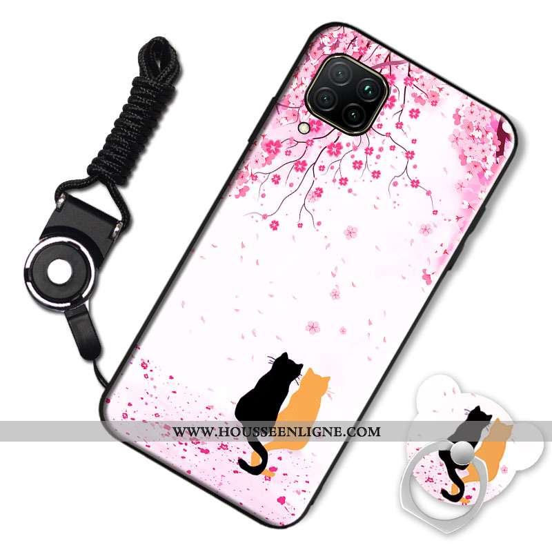 Housse Huawei P40 Lite Tendance Silicone Incassable Téléphone Portable Rose Tout Compris Coque