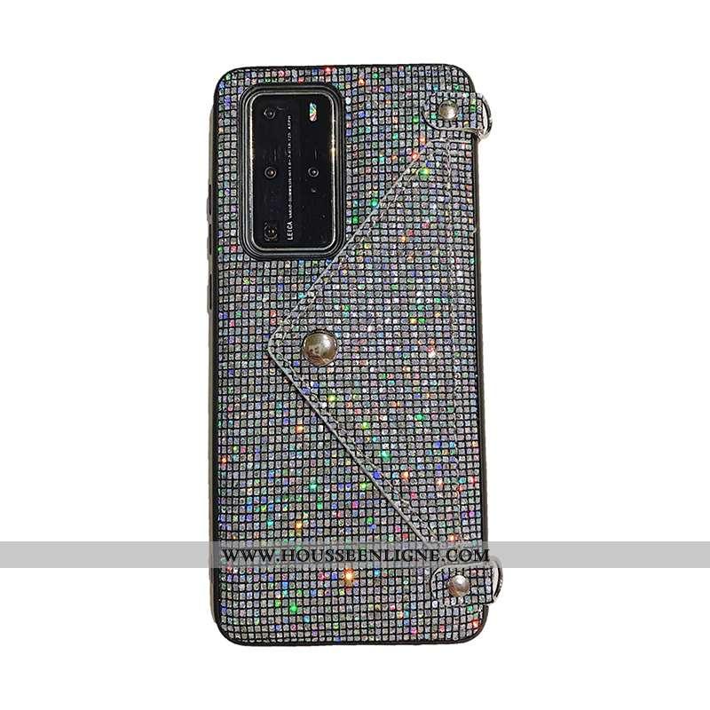 Housse Huawei P40 Pro Ornements Suspendus Luxe Carte Téléphone Portable Noir Coque