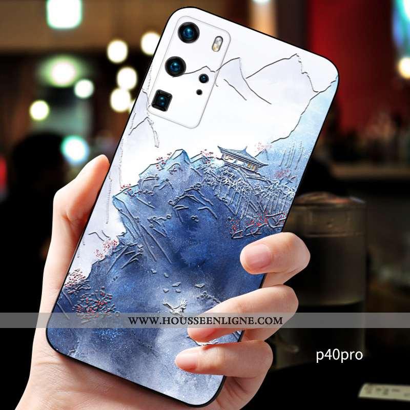 Housse Huawei P40 Pro Personnalité Créatif Personnalisé Téléphone Portable Incassable Silicone Fluid