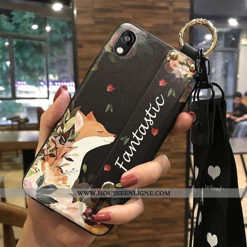 Housse Huawei Y5 2020 Créatif Fluide Doux 2020 Support Frais Coque Fleur Beige