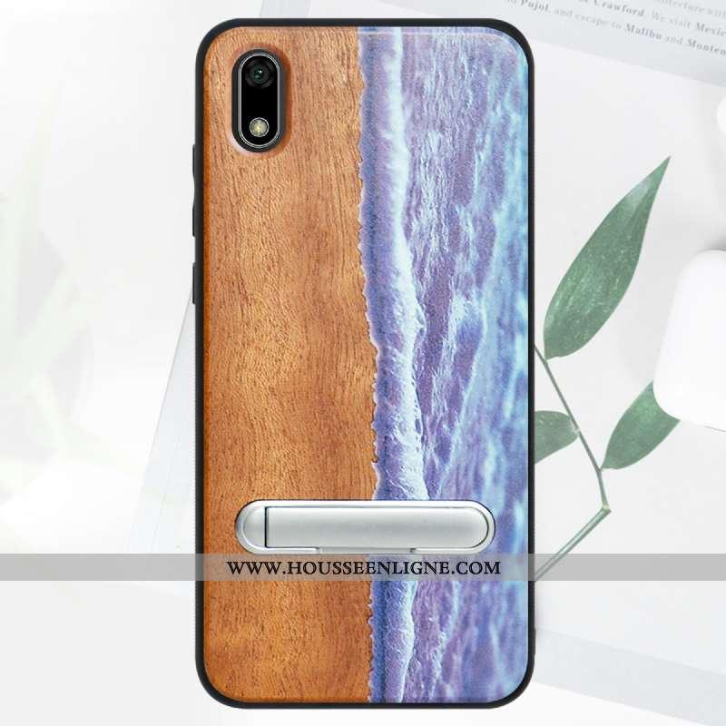 Housse Huawei Y5 2020 Protection En Bois Téléphone Portable Bleu 2020 Tout Compris Modèle Fleurie