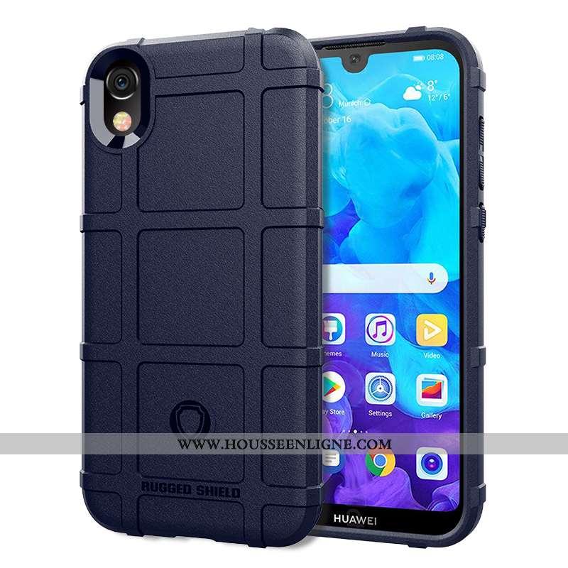 Housse Huawei Y5 2020 Silicone Délavé En Daim Téléphone Portable Magnétisme Coque Fluide Doux À Bord