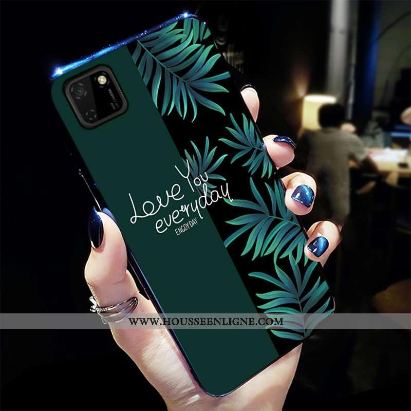 Housse Huawei Y5p Personnalité Créatif Tout Compris Téléphone Portable Mode Coque Dessin Animé Verte