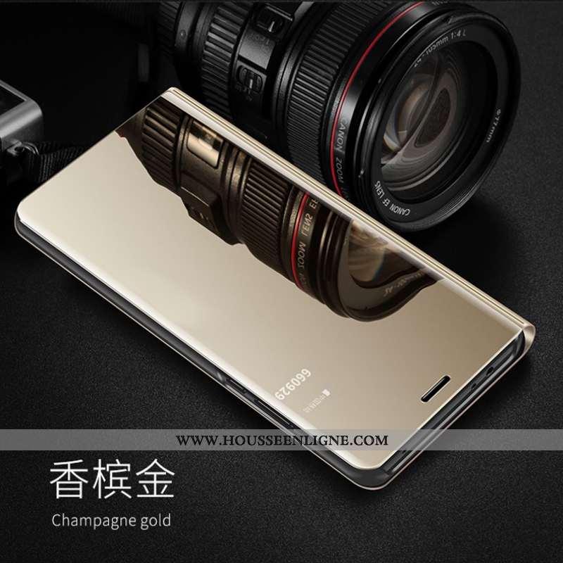 Housse Huawei Y5p Transparent Cuir Téléphone Portable Nouveau Protection Étui Doré