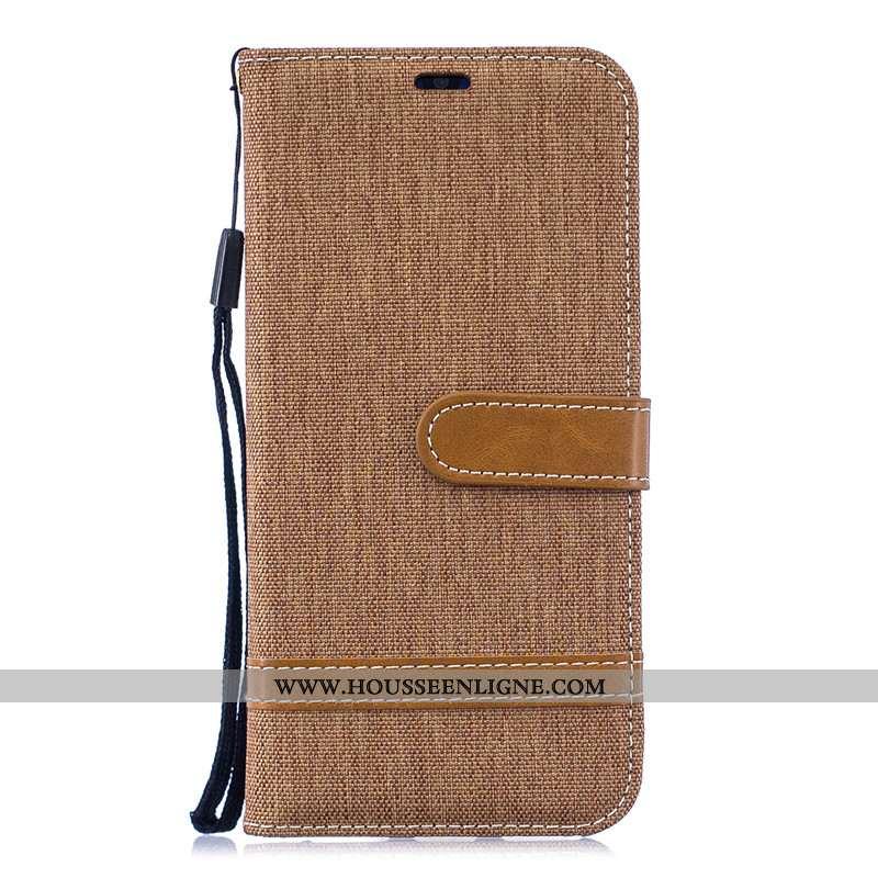 Housse Huawei Y6 2020 Cuir Protection Téléphone Portable 2020 Coque Nouveau Marron