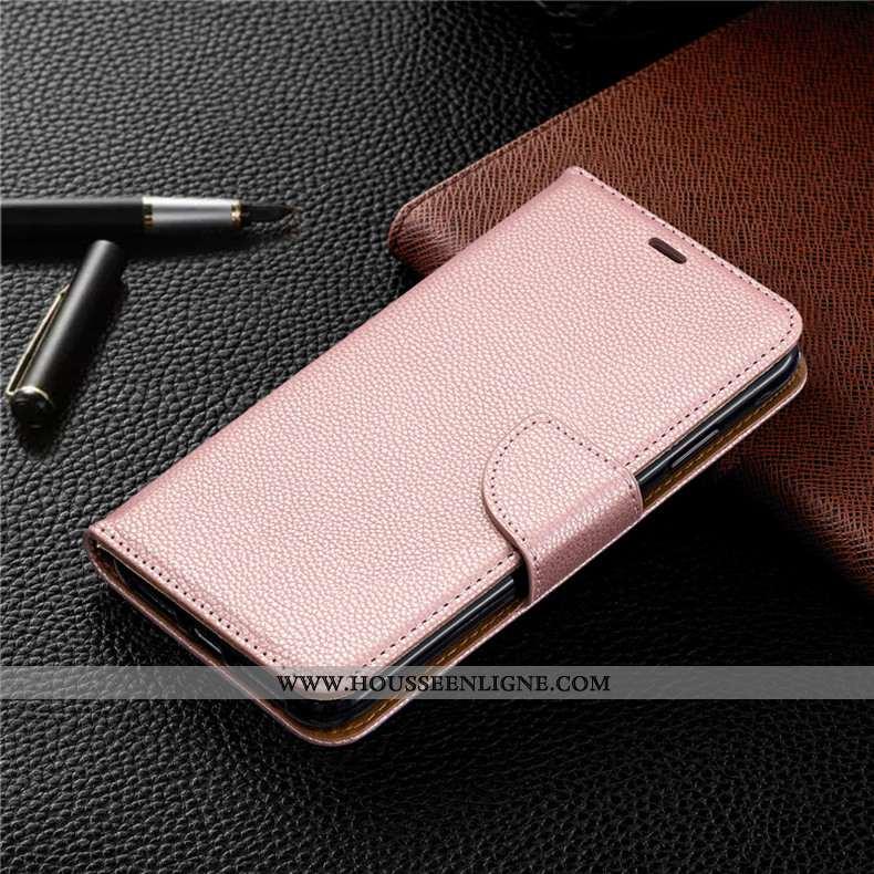 Housse Huawei Y6 2020 Portefeuille Cuir Carte Rose Coque Téléphone Portable
