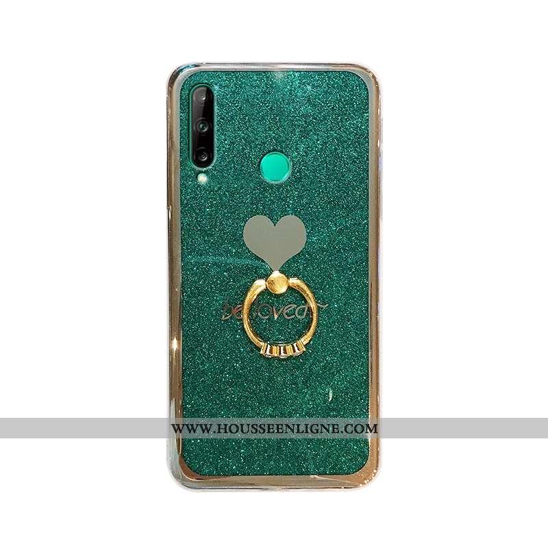 Housse Huawei Y6p Créatif Tendance Coque En Silicone Net Rouge Incassable Amour Verte