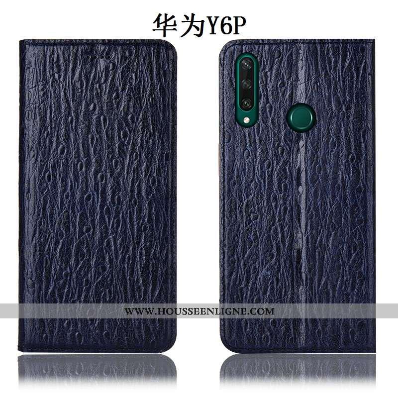 Housse Huawei Y6p Cuir Véritable Protection Incassable Téléphone Portable Oiseau Étui Tout Compris B