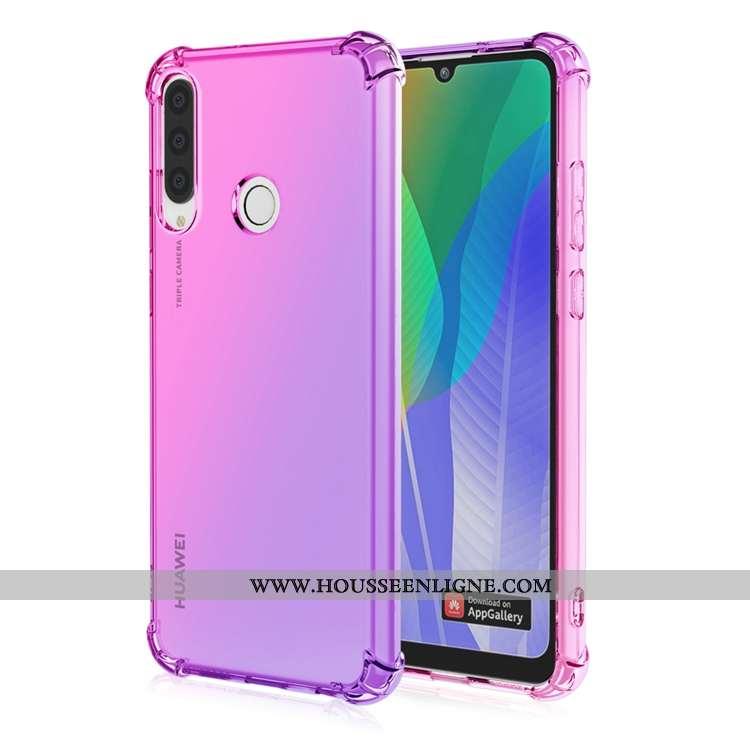 Housse Huawei Y6p Personnalité Fluide Doux Ballon Téléphone Portable Étui Incassable Violet