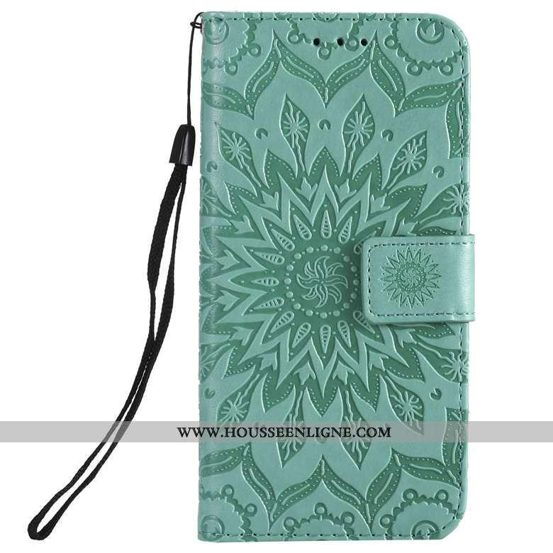 Housse Huawei Y6p Protection Cuir Clamshell Téléphone Portable Coque Étui Vert Verte