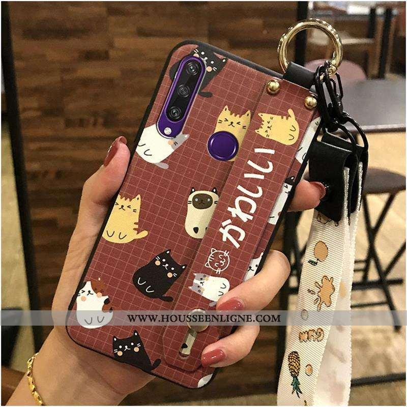 Housse Huawei Y6p Tendance Fluide Doux Dessin Animé Coque Support Téléphone Portable Ornements Suspe